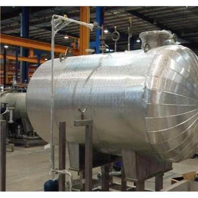 石油管道玻璃棉毡保温工程施工镀锌板罐体保温安装