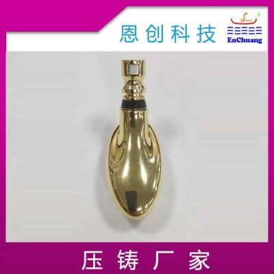 锌合金压铸厂家供应金色化妆按摩头精密压铸件定制