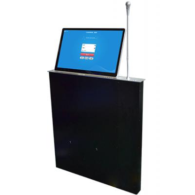 液晶屏带话筒升降器,超薄一体带话筒升降器,无纸化升降器