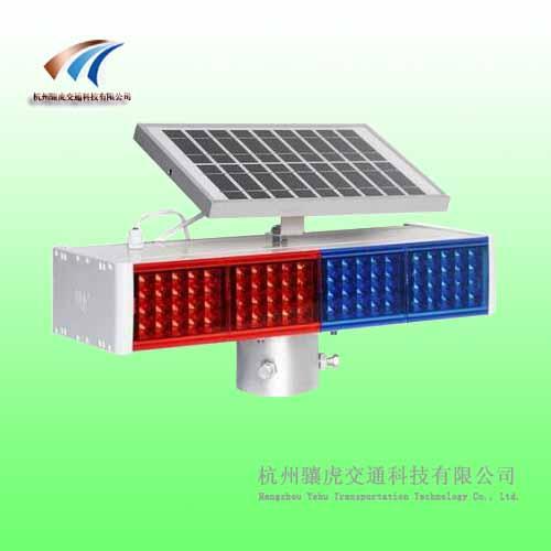 牡丹江太阳能警示灯 红蓝警示灯图片