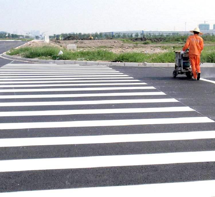快干黄色白色道路标线专用漆