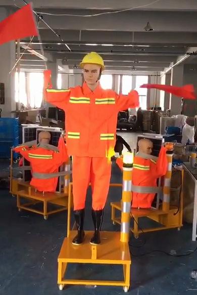 淄博市太阳能摇旗假人 施工假人 保通安全员价格