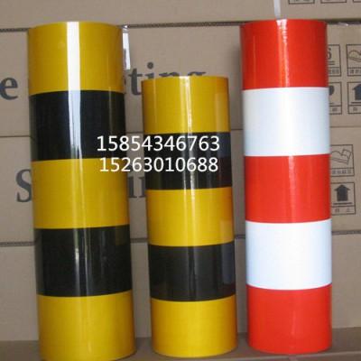 供应电力电杆红白反光膜 黑黄斜纹防撞反光警示贴