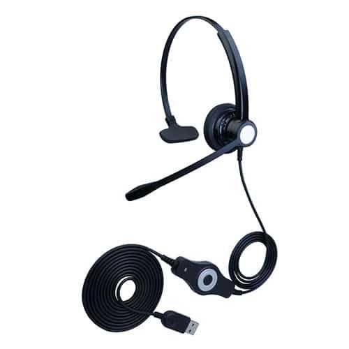 合镁U301客服耳麦USB接口头戴式话务耳机