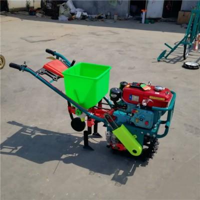 小型手扶自走式耘播机 多功能施肥耘锄开沟一体机 链轨式耘播机