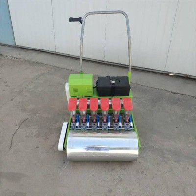小粒种子播种机  手推式菠菜水稻播种机 自走式多行播种机