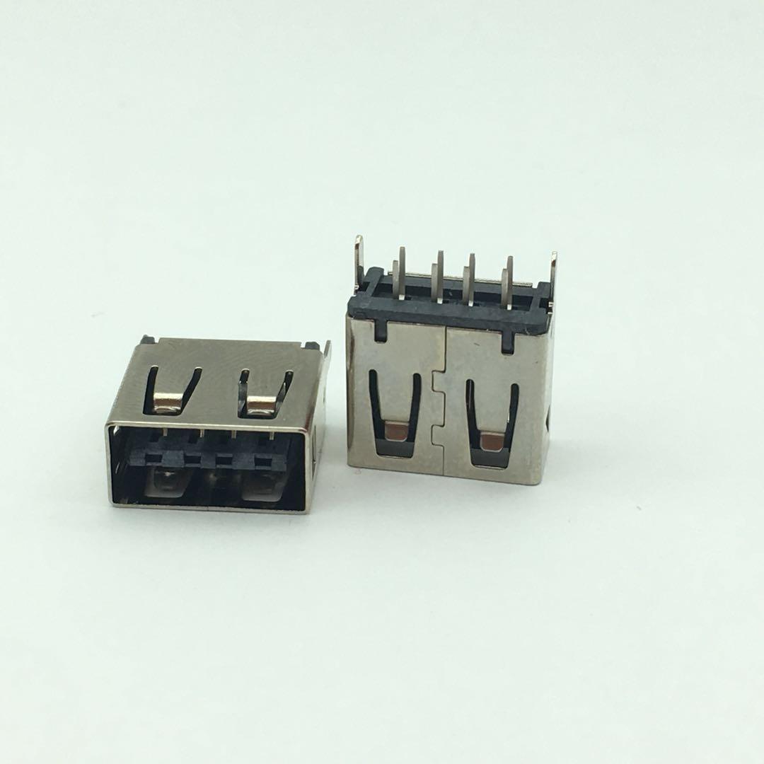 USB AF双面A母180度 黑胶