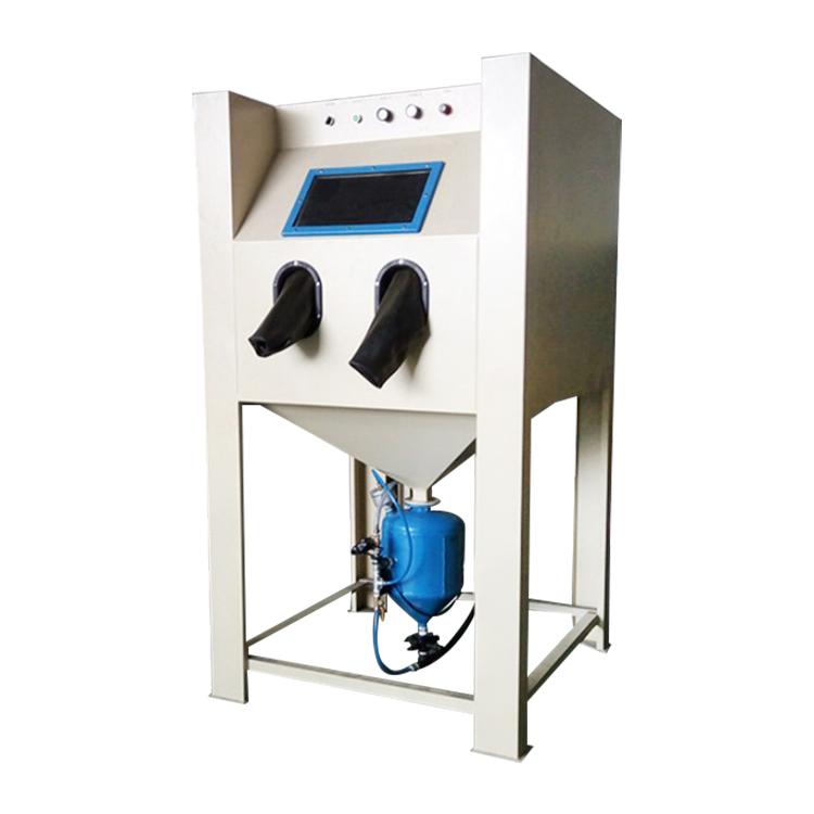 中山喷砂机五金高压喷丸机模具喷砂机手动箱式加压喷砂机