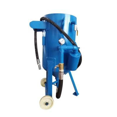 移动式手动喷砂机高压打砂机大型铁板喷沙机除锈翻新