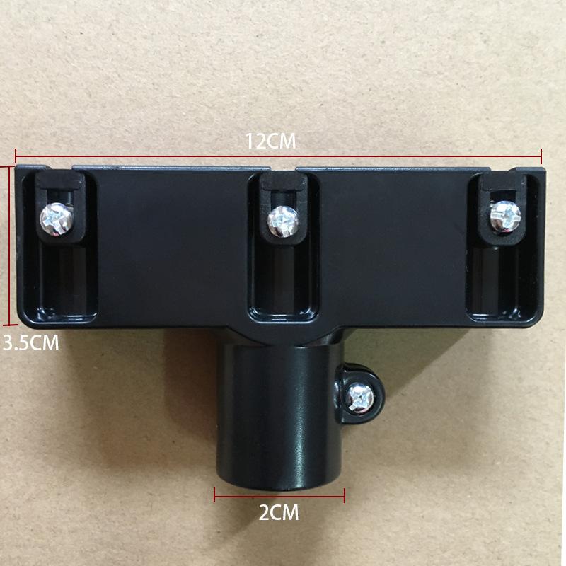 跨境专供三孔塑料配件连接件批发黑色塑料接头螺丝固定