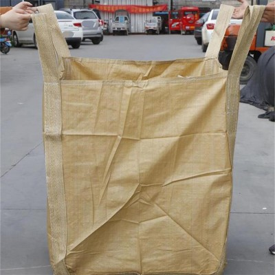 临沂吨袋生产厂家现货速发黄色再生料承重1吨