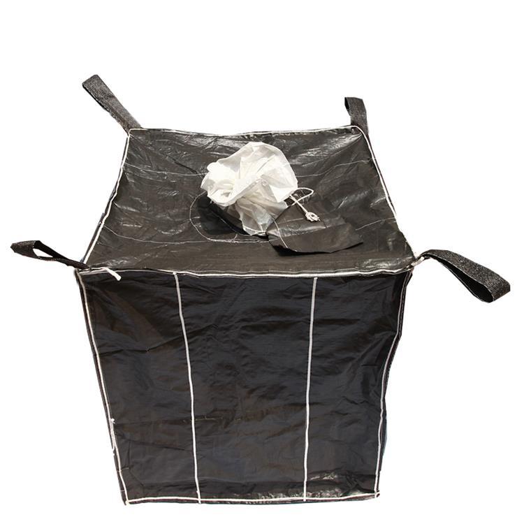 吨包袋拉筋批发厂家平行托底加厚耐磨1吨黑色吨包污泥吨袋编织袋