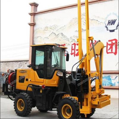 新型多功能护栏打桩机 ,地面钻孔打桩机