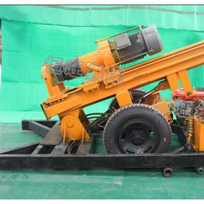 恒旺150米轮式气动打井机,打岩石快的水井钻机
