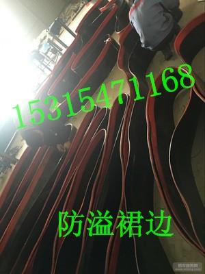 生产批发输送机专用裙边   双密封防溢裙板技术特点