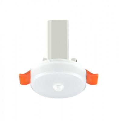敏华消防应急灯2.5寸磨砂罩简约筒灯