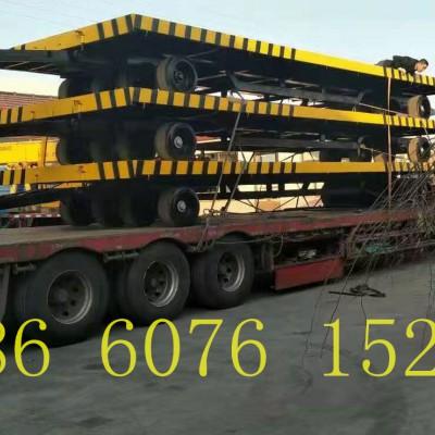 低平板重型拖车万向轮重型拖车 25吨牵引挂车平板拖车