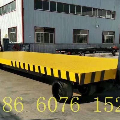 3吨高底盘平板拖车 货物牵引转运平板拖车 四轮码头拉货拖车
