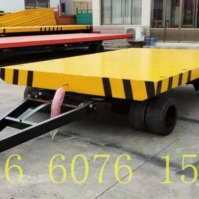 10吨双胎平板拖车 双胎农用挂车 平板拖车轮胎配件厂家