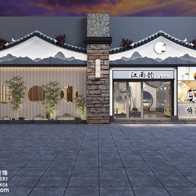 中餐厅设计装修,杭州市淳安县江南韵生态餐厅设计装修