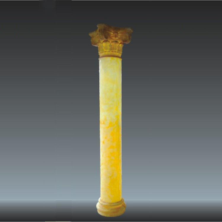 透光石罗马柱 仿云石罗马柱 人造透光石圆柱定制