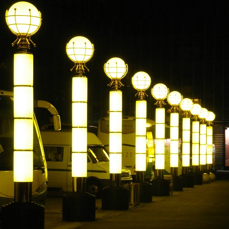 仿云石景观灯 透光石景观灯 云石广场灯柱定做