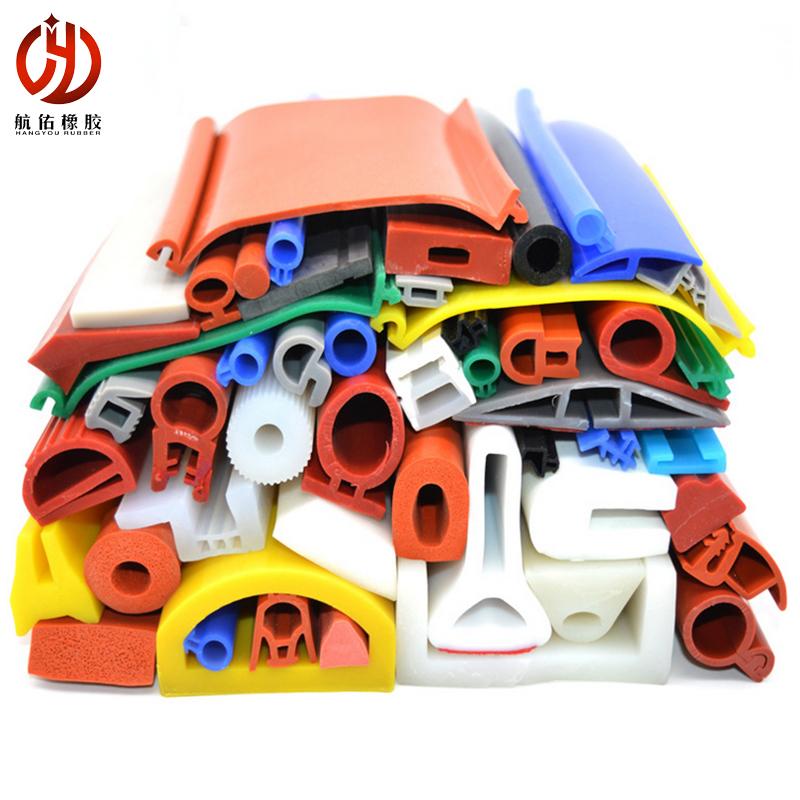航佑供应 异形硅胶密封条 各种规格定制异型硅胶条