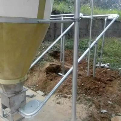 江西现代化养猪设备生产企业-泊头开元厂家定制猪场料线安装