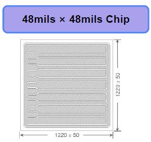 深紫外大功率UVC UVB芯片48*48mil韩国PW进口