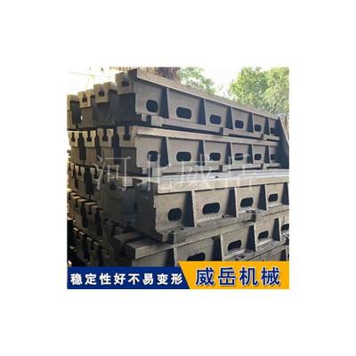龙门刨床加工地槽铁 铸铁地轨基础槽铁 优惠销售