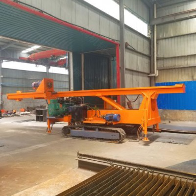 新型螺旋打桩机旋挖钻机 建筑工地 履带式光伏电打桩机