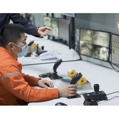 铁矿电机车无人驾驶自动装卸系统