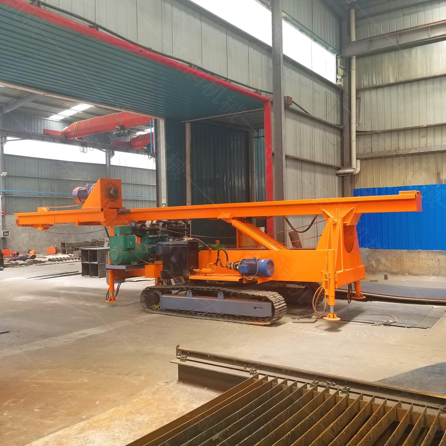 供应液压长螺旋旋挖桩机地基长螺旋钻孔打桩机工程打桩机