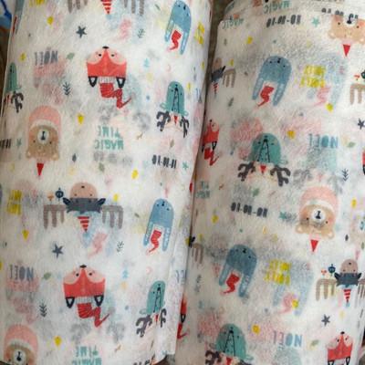 福建厂家供应儿童卡通水刺布图案定制    口罩用布